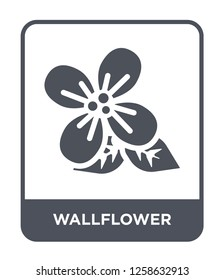 wallflower icon vector on white background, wallflower trendy filled icons from Nature collection, wallflower simple element illustration