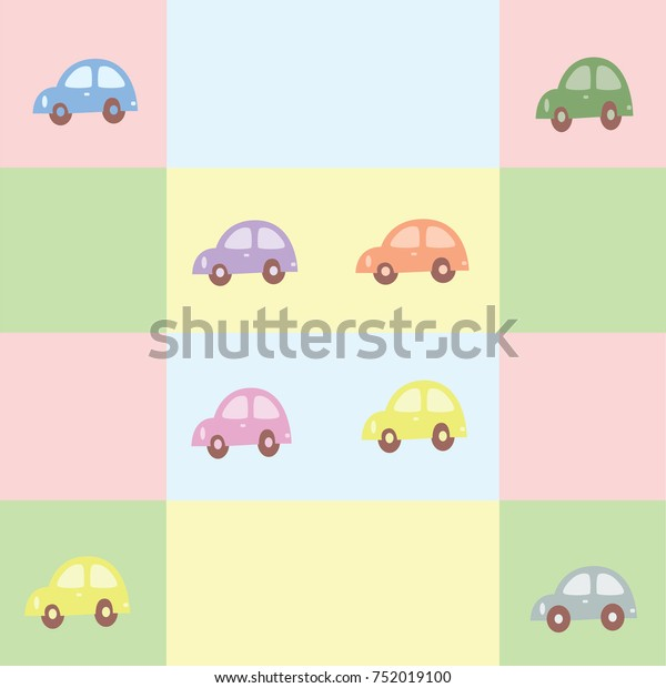 Wallpaper Background Car Pastel Colors Stock Vector Royalty Free 752019100