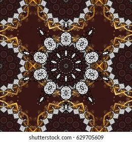Wallpaper baroque, damask. Graphic modern pattern. Vector background. Pattern floral pattern.