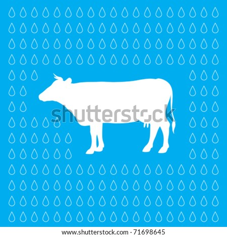 Wallpaper Cow Milk Drops Stock Vector Royalty Free 71698645