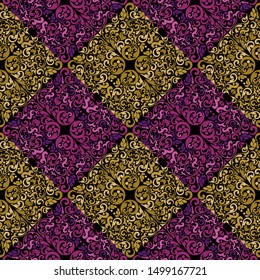 Wallpaper figure pattern. It can be used as wallpaper, gift or wrapping paper, notebook cover, background card for gift card, background print for table or poster. Fabric, textile design.