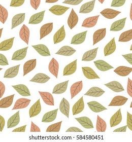 Wallpaper Leaves Illustration Silhouettes Seamless Pattern Leaf Isolated On White Background Color