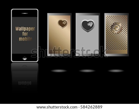 Wallpaper Mobile Theme Mobile Screen Saver Stock Vector Royalty