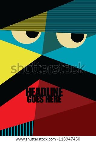 Wallpaper Print Vector Poster Design Template Stock Vector Royalty