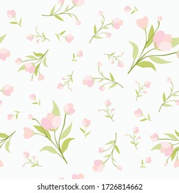 wallpaper seamless vintage flower pattern on brown background
