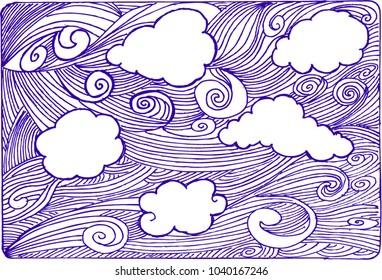wallpaper, sky, sketch