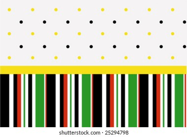 Wallpaper (stripes and dots)