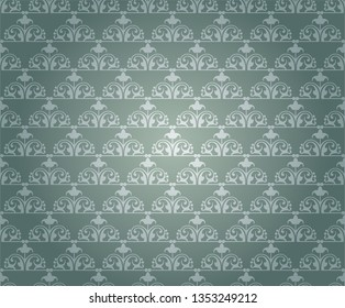 Wallpaper texture  floral pattern vector image