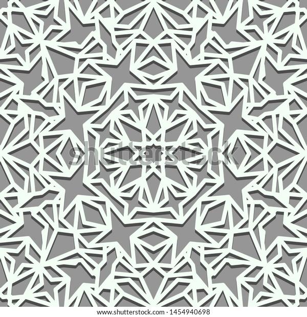 Wallpaper Tile Islamic Style Seamless Background Stock