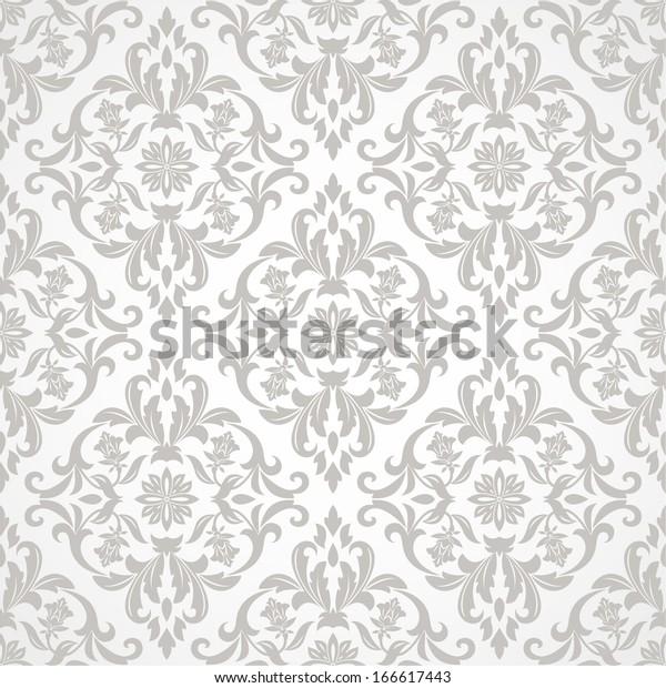 Wallpaper Tile Style Baroque Seamless Vector Stock Vector
