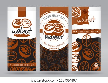 Walnuts packaging set