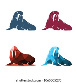 Walrus Fur Seal Abstract Silhouette Symbol Mascot