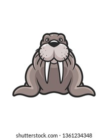 Walrus Mascot Illustration