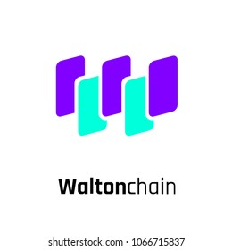 Waltonchain Cryptocurrency Coin Sign