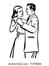 Waltzing Couple 2 - Retro Ad Art Illustration