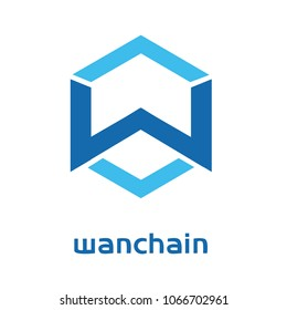 Wanchain Cryptocurrency Coin Sign