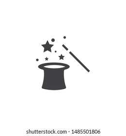 Wand Magic hat icon vector template