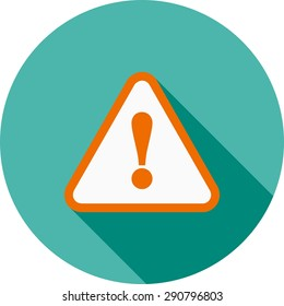 Wanrning, sign, warning sign icon vector image. Can also be used for construction, interiors and building. Suitable for use on web apps, mobile apps and print media.