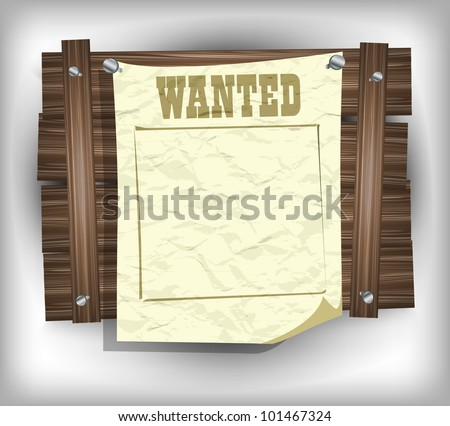 Wanted Paper Frame Eps 10 Stock Vector (Royalty Free) 101467324 ...