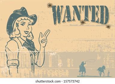 Wanted signboard, vector