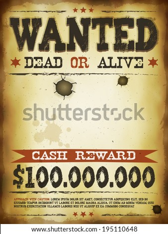 wanted vintage western poster illustration vintage のベクター画像