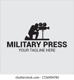 war documentary silhouette logo illustrations