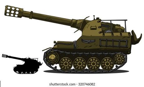War Tank cartoon
