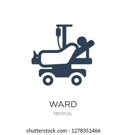 ward icon vector on white background, ward trendy filled icons from Medical collection, ward vector illustration