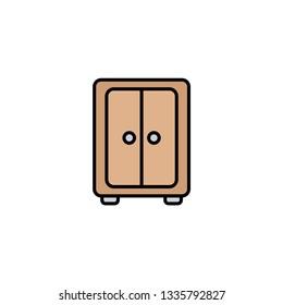 Wardrobe flat vector icon sign symbol
