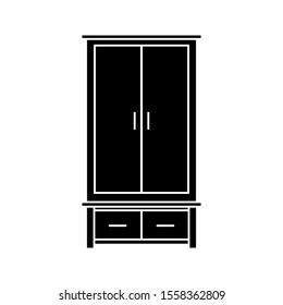 wardrobe icon vector illustration on white background