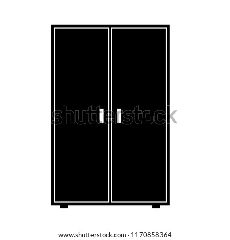 Wardrobe Vector Icon Clipart Image Isolated Stock Vector Royalty