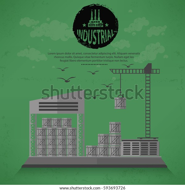 Warehouse concept design,vector