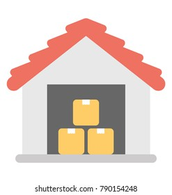 Warehouse Flat Colored Icon