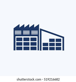 Warehouse icon design,clean vector