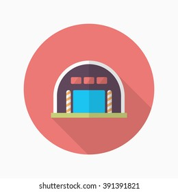 Warehouse icon, Vector flat long shadow design. Shipping and logisticst concept.