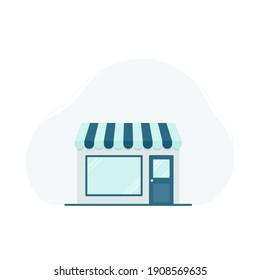 Warehouse icon. Vector illustration, flat design