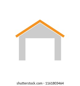 Warehouse isolated color icon, vector illustration design. Logistics collection.