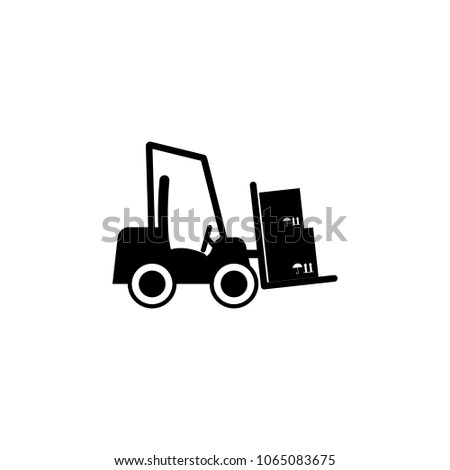 Warehouse Loader Icon Element Logistics Icon Stock Vector