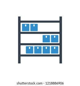 warehouse shelf icon