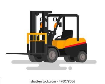 Warehouse steer loader on a white background. Vector illustration