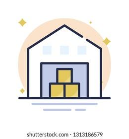 Warehouse Vector Icon