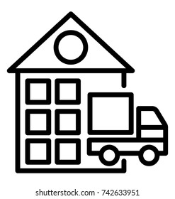 Warehousing and Distribution Vector Icon