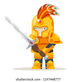 Warlord greatsword two-handed sword fantasy medieval action RPG game character layered animation ready character vector illustration