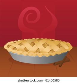 Warm Apple Pie - vector
