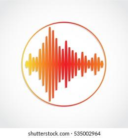 warm color music equalizer logo