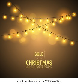 Warm Glowing Christmas Lights.
