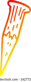 warm gradient line drawing of a cartoon bloody vampire stake