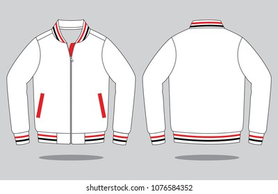 Warm up jacket design