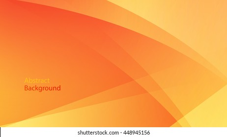 warm and orange color background abstract art vector curve