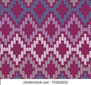 Warm Wine Burgundy Knit Pattern Seamless Tile